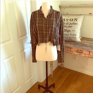 Furst Of a Kind Vintage Flannel. vintage zippered